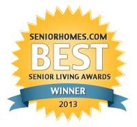 2013 Best Senior Living Awards finalist badge