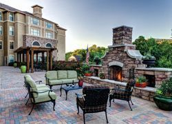 Atria Canyon Creek - Plano, TX - Outdoor Fireplace