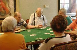 Emerald Oaks Retirement Resort - San Antonio, TX - Residents Playing Cards