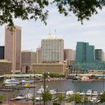 Baltimore City Inner Harbor in Baltimore, Maryland