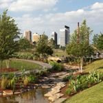 A city park in Birmingham, Alabama