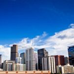 The city skyline of Denver, Colorado