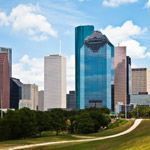 The cityscape of downtown Houston, Texas