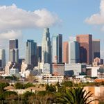 The Los Angeles Skyline in Southern California