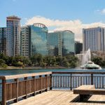 Orlando, Florida seen from across Lake Eola