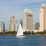 Downtown San Diego, California from across the water