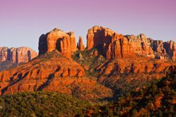 Cathedral Rock at sunset near Sedona, AZ (Arizona)