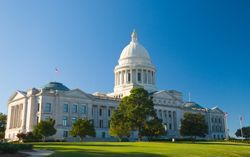 The state capitol of Arkansas in Little Rock, AR (Arkansas)