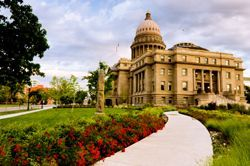 A scenic view of the Idaho capitol building in Boise, ID (Idaho)