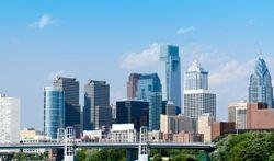 The Philadelphia, PA (Pennsylvania) skyline.