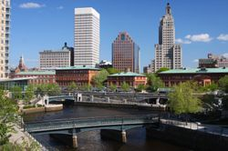 The city of Providence, RI (Rhode Island).