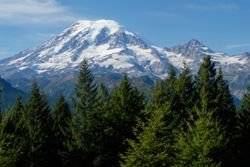 Mount Rainier in WA (Washington)