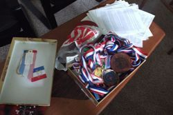 Medals Lisbeth has won over the years at the senior games