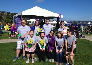 The SeniorHomes.com team at the Walk to End Alzheimer's